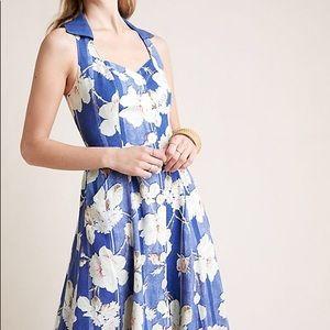 Anthropologie Camellia Collared Dress